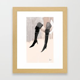 Lady with shoes  Framed Art Print
