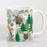 woodland Mugs featuring Woodland by Emma Jansson