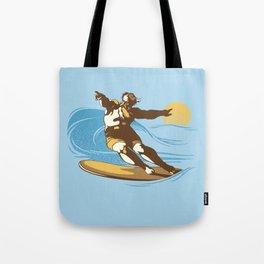 God Surfed Tote Bag