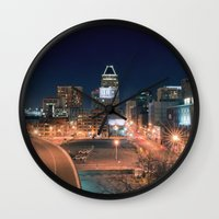 baltimore Wall Clocks featuring Baltimore by Andrew Mangum