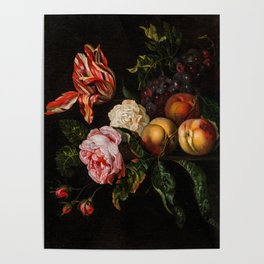 """Ernst Stuven """"Still-life with peaches"""" Poster"""