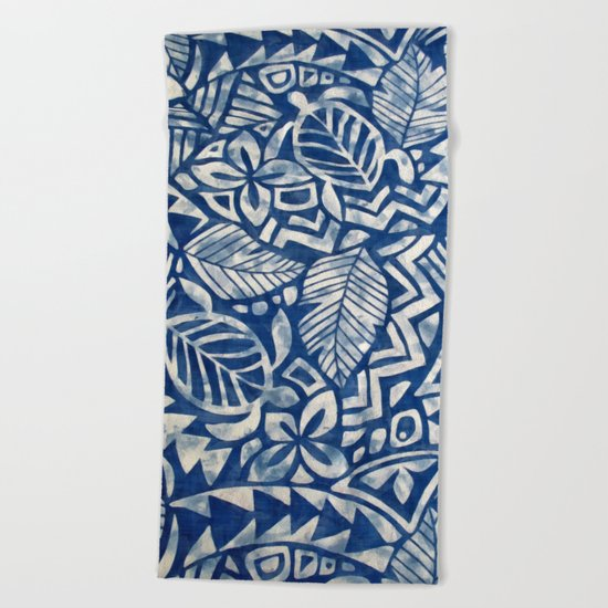 Hawaiian tribal pattern Beach Towel