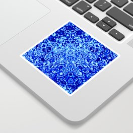 Blue Mirror Sticker