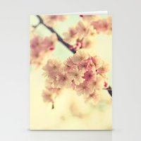 cherry blossoms Stationery Cards featuring cherry blossoms by Sylvia Cook Photography