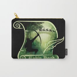 Robin Hood - Scroll - Green Carry-All Pouch