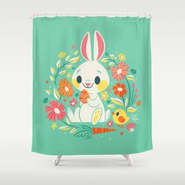 Sweetest Easter Bunny Shower Curtain