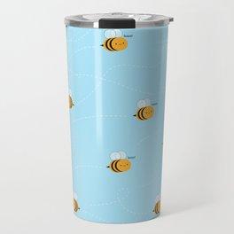 Kawaii Buzzy Bumble Bees Travel Mug