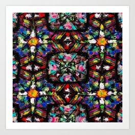 Ecuadorian Stained Glass 0760 Art Print