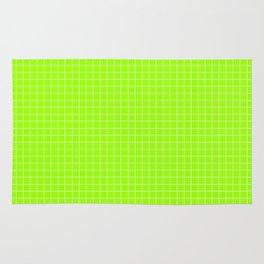 Green Grid White Line Rug