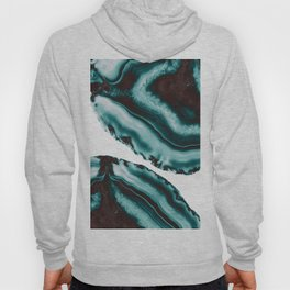 Turquoise Brown Agate #1 #gem #decor #art #society6 Hoody