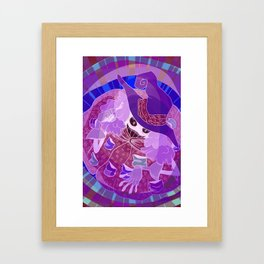 Negative Witch Framed Art Print