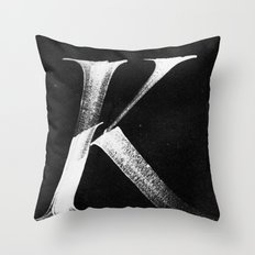 /K/ Throw Pillow