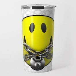 Quit Your Grinning / 3D chained up smiley Travel Mug