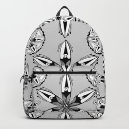 Black and White Sea Pods Backpack