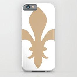 Fleur de Lis (Tan & White) iPhone Case