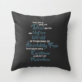 Unfree World Throw Pillow