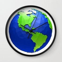 Low poly world- Usa theme Wall Clock