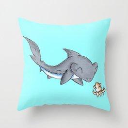 Squid Friend Throw Pillow