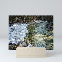 Yosemite Creek with some Frazil Ice Mini Art Print