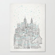 Winter in New York Canvas Print