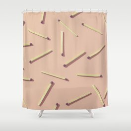 #Matches#vintage#collection Shower Curtain