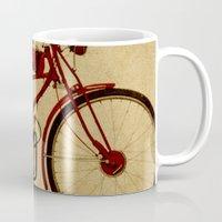 ducati Mugs featuring Ducati 1950 - Classic bike by Larsson Stevensem