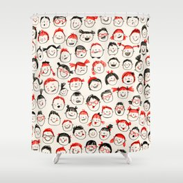 Silly Faces Shower Curtain