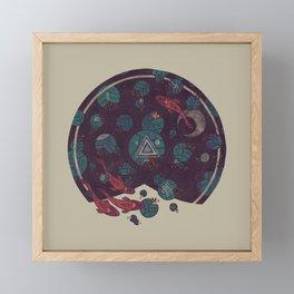 Amongst the Lilypads Framed Mini Art Print