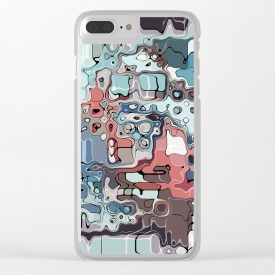 Chaotic Colorful Abstract Clear iPhone Case