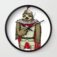 sloth Wall Clocks featuring Sloth  by Artifact Supply