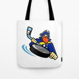 Swashbuckler Ice Hockey Sports Mascot Tote Bag