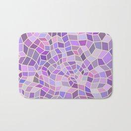 Violet Mosaic Tiles Bath Mat