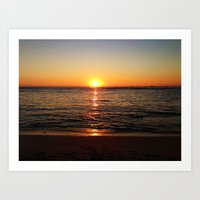 Painted Sunset  Art Print
