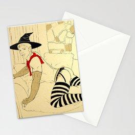 Ye Olde Striptease Illustrated: Merlin Stationery Cards
