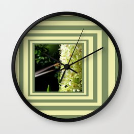 Like A Bee to Honey Wall Clock