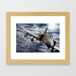 Mig at six !!! Brake left !!! Framed Art Print