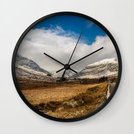 Mountain Highway Snowdonia Wall Clock