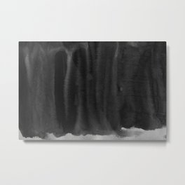 Black Ink Art No 5 Metal Print