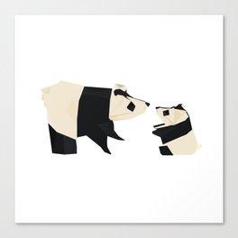 Origami Giant Panda Canvas Print