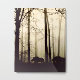 Night in the forest Metal Print