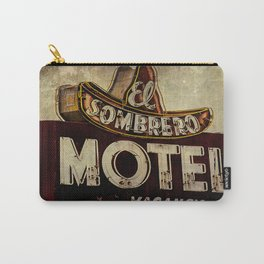 Vintage El Sombrero Motel Sign Carry-All Pouch