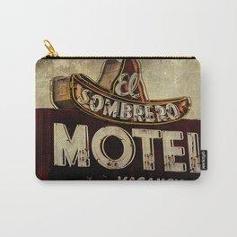 Vintage El Sombrero Motel Sign Carry-All Pouch