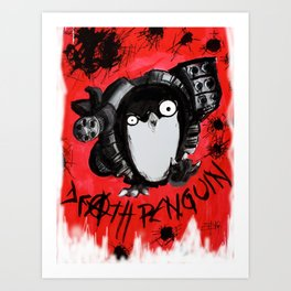 Death Penguin Art Print