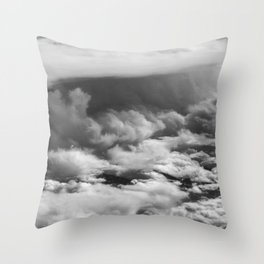 Wave of Clouds Throw Pillow