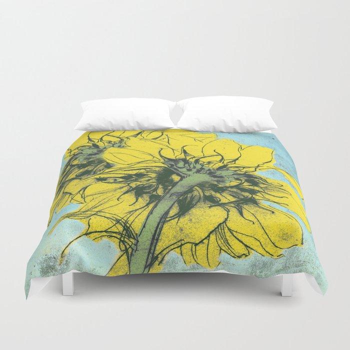 The sunflowers moment Duvet Cover