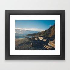 Ocean Beach in the Fall Framed Art Print