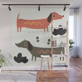 Wiener Dogs Wall Mural