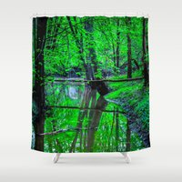 gemma Shower Curtains featuring In A Dream by Faded  Photos