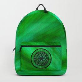 Celtic Knot Star Flower Backpack