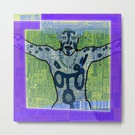 Avatars 1 - Skin Circuits Metal Print